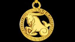 دستبند و آویز طلا با نماد ماه دی