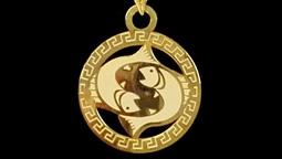 دستبند و آویز طلا با نماد ماه اسفند