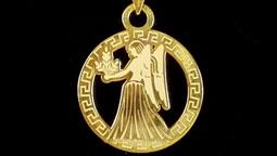 دستبند و آویز طلا با نماد ماه شهریور