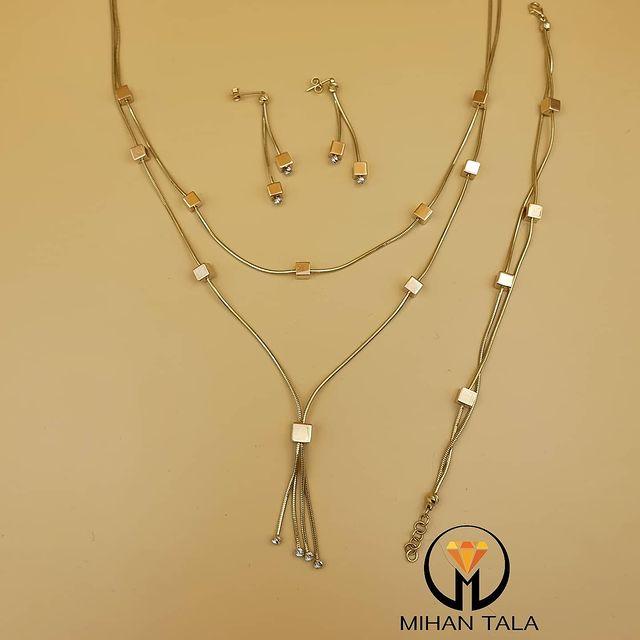طلافروشی ارزانترین قیمت خرید طلا دستبند سرویس.. 4