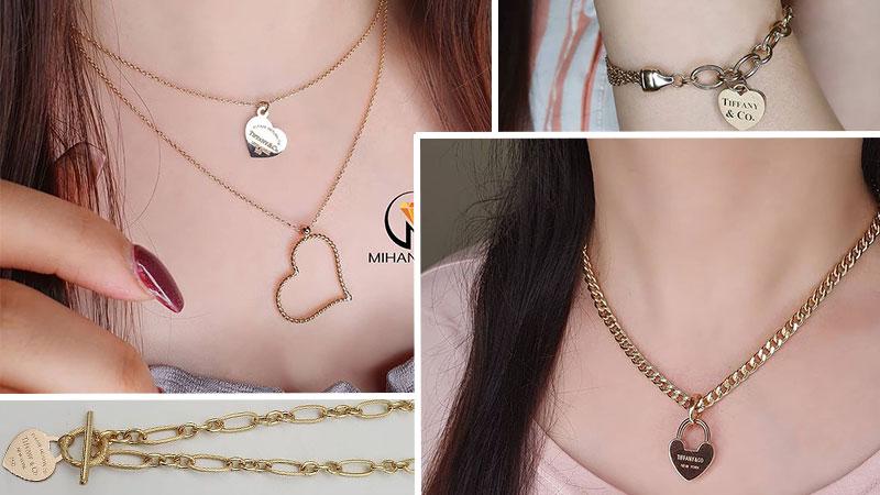 مدال و زنجیر طلا متصل کد9 طرح قلب و عشق