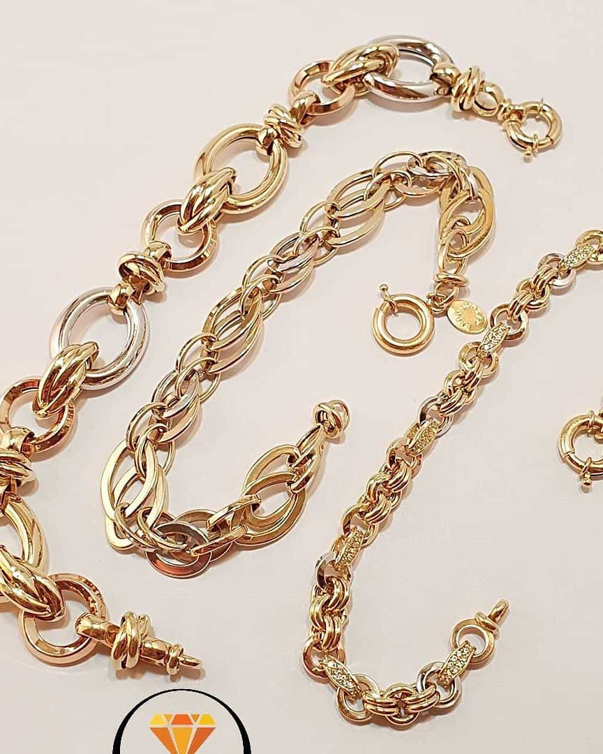 دستبند طلا اهورا کد 2