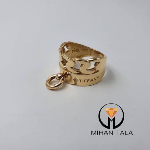 انگشتر طلا تیفانی کد8