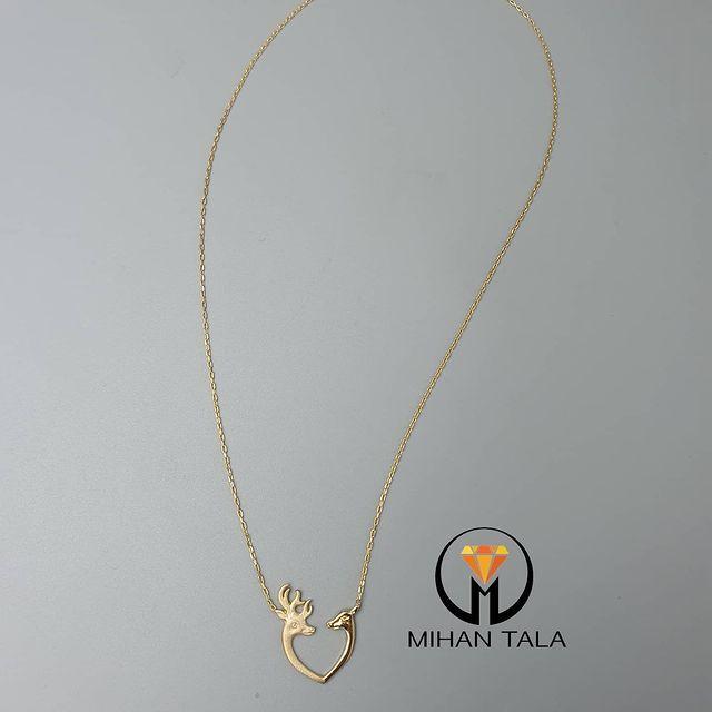 مدال و زنجیر طلا متصل کد6
