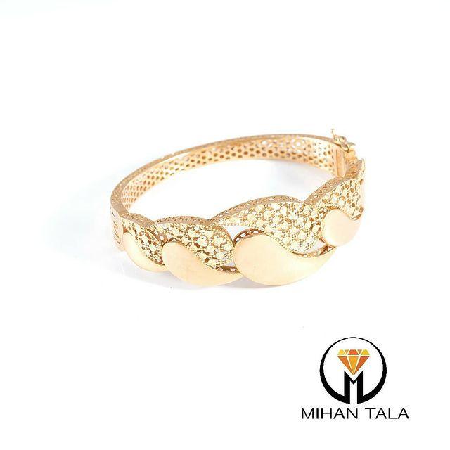 دستبند طلا النگویی میهن بته جقه