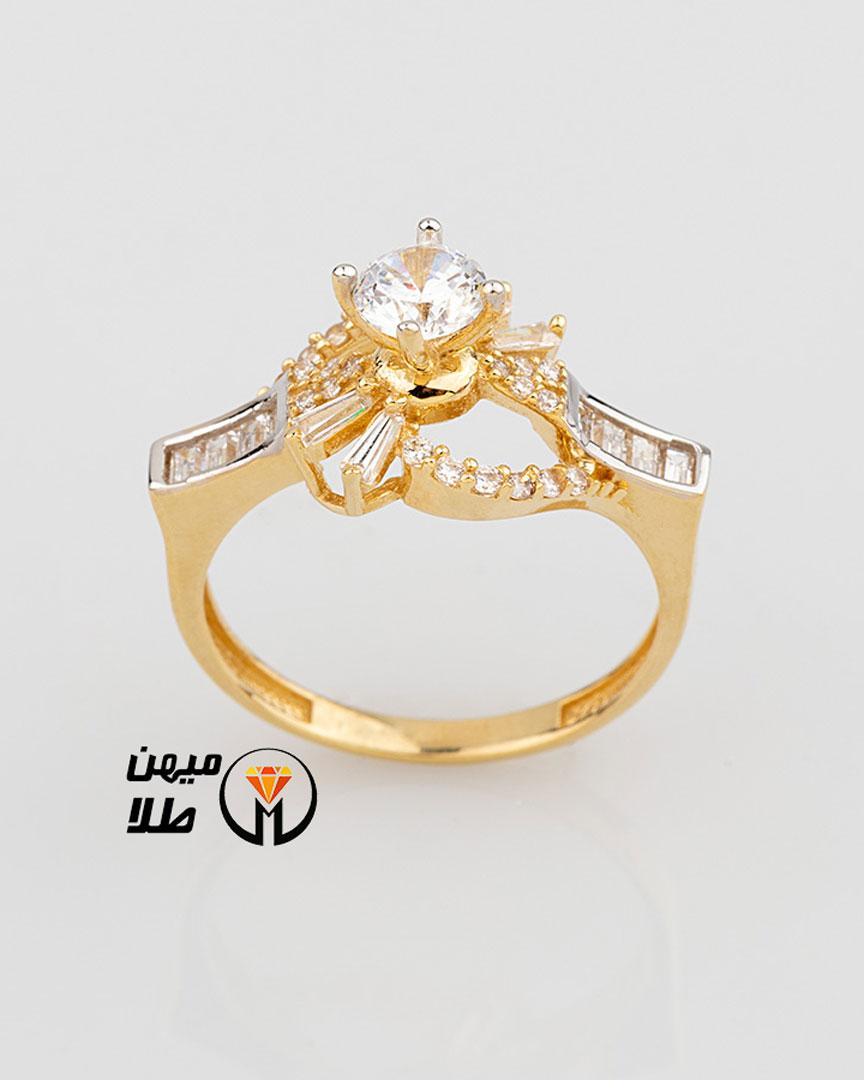 انگشتر طلا سولیتر فانتزی sol-85