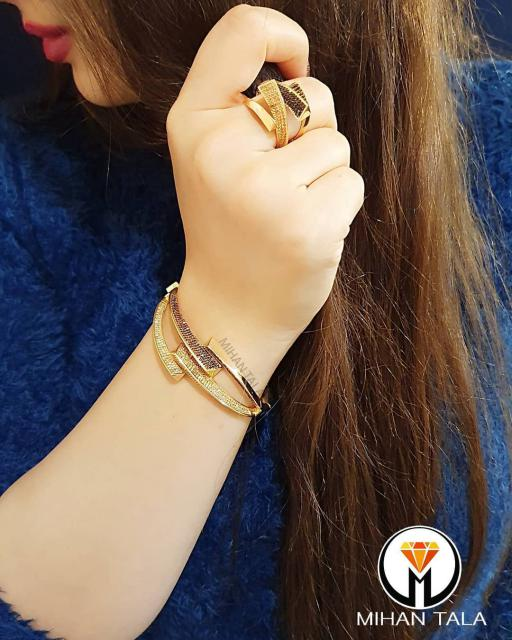 دستبند النگویی و انگشتر پاشالوکس