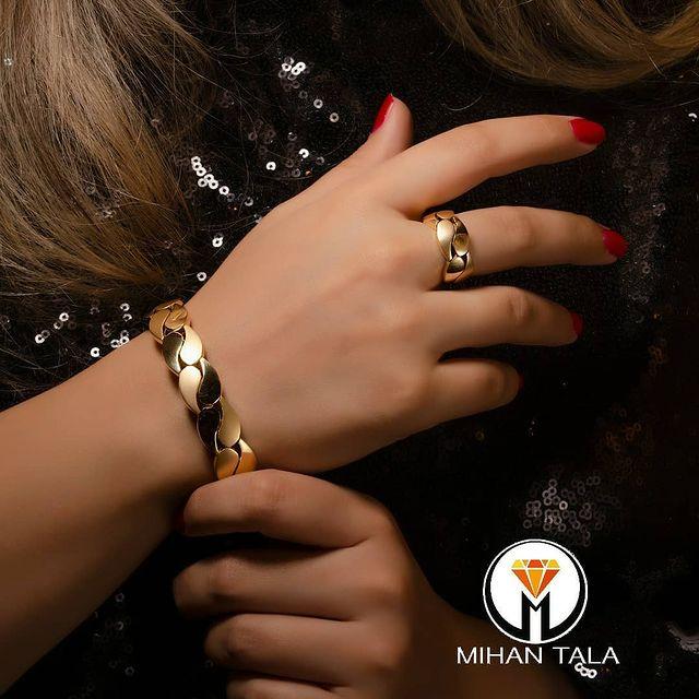 دستبند و انگشتر طلا پاریز گلد
