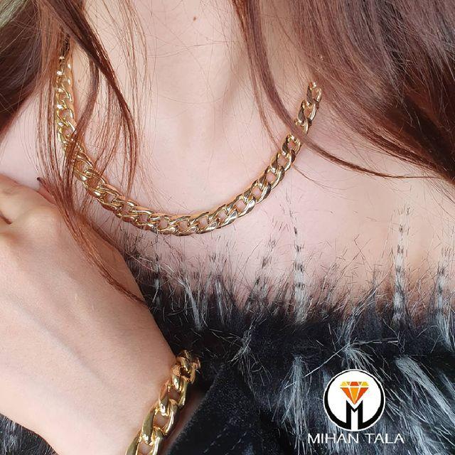 ست زنجیر و دستبند طلا کارتیه آلبرتو