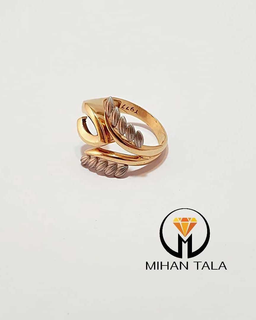 انگشتر طلا برگ بهشت