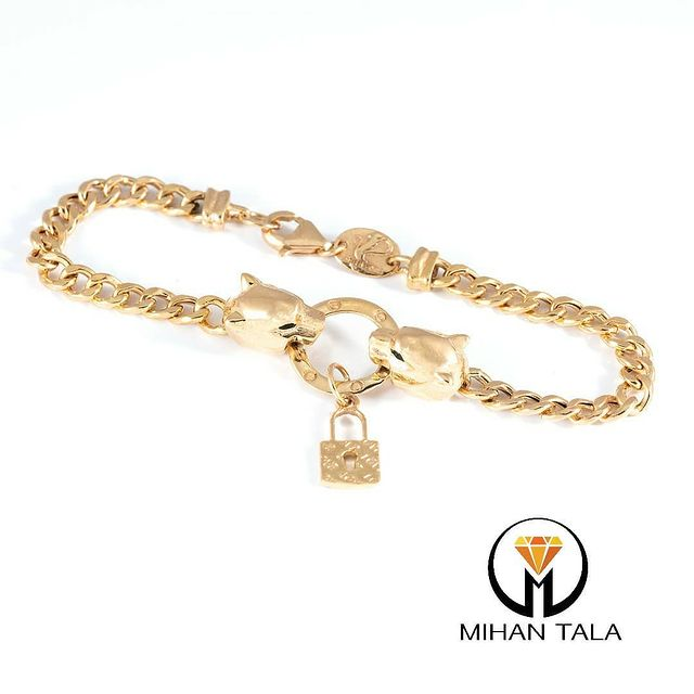 دستبند طلا پنتر