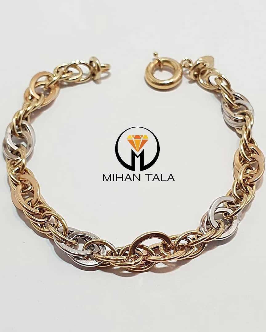 دستبند طلا زنجیری هالو
