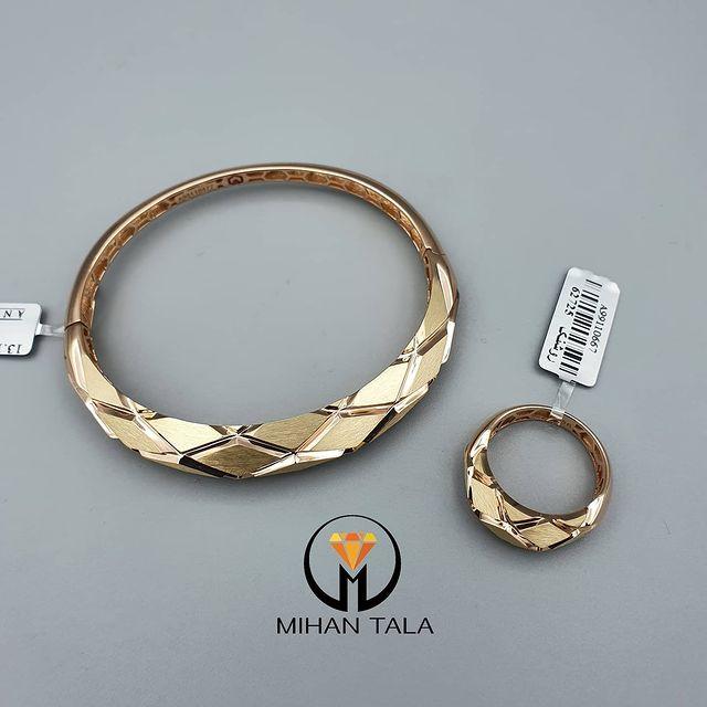 دستبند طلا انارکی روشنک