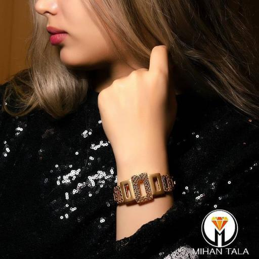 دستبند طلا النگویی میهن مستطیل