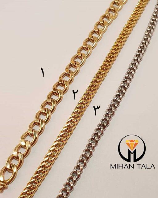 دستبند طلا کارتیه زنجیر درشت طلایی