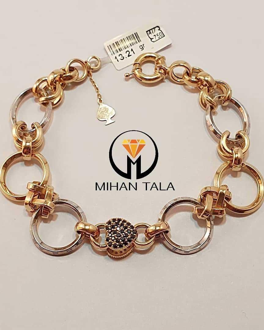 دستبند طلا بهرنگ