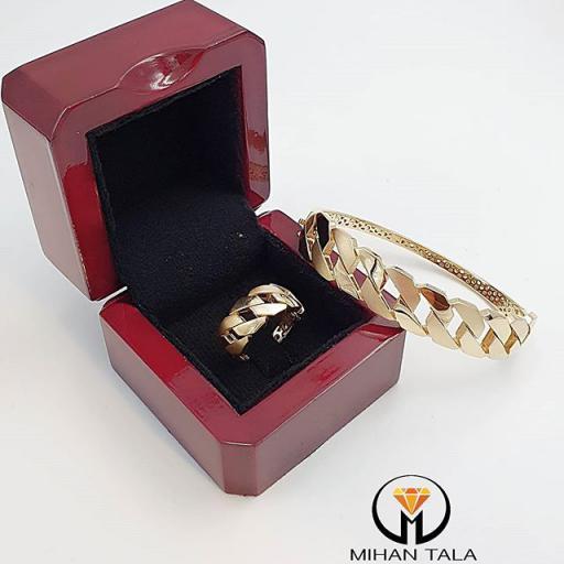 دستبند طلا و انگشتر طلا پاریز گلد