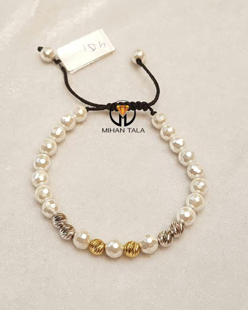 دستبند سنگ و طلا