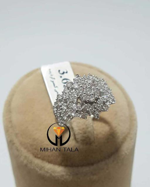 انگشتر پایه جواهر هفت الماس